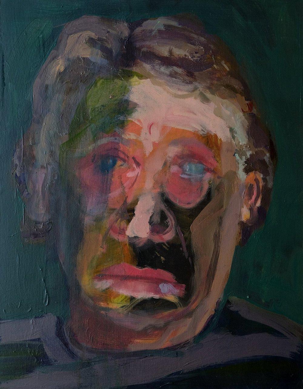 "Lara Feldman ""Seen it All"" Oil on Canvas 47 x 36,5cm including frame R8 400"