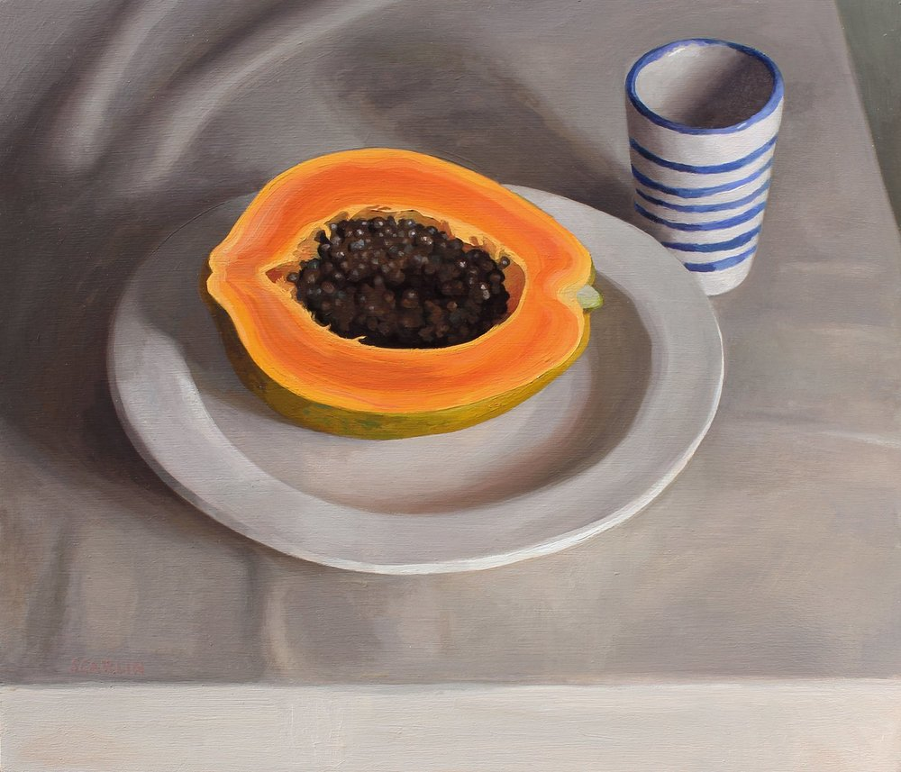 Papaya and Striped Cup