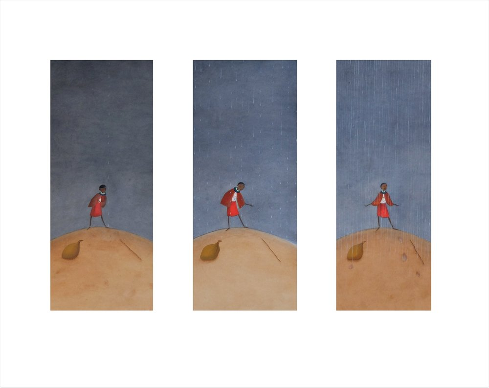 Lila & the Secret of Rain (triptych)