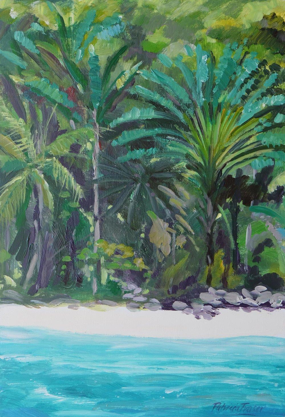 PALM ISLAND  45.5 x 32cm Acrylic on Board R 6 800