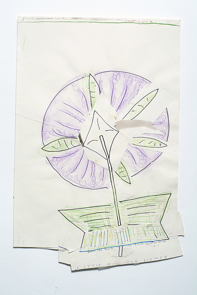 Little Mauve Flower 2014 Watercolour, Pencil, Ink, and Collage on Paper 92 x 62 cm Rose Wylie_LR.jpg