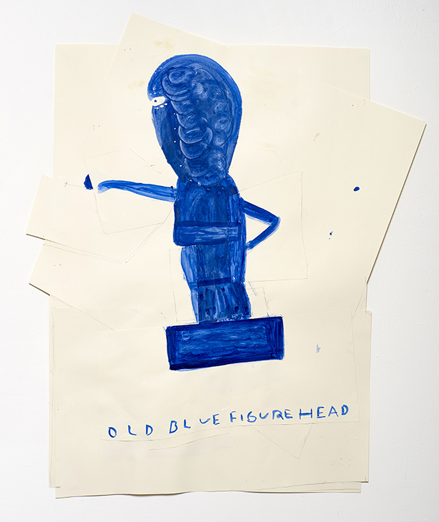 Old Blue Figurehead 2015 Watercolour and Collage on Paper 91 x 76 cm Rose Wylie_LR.jpg