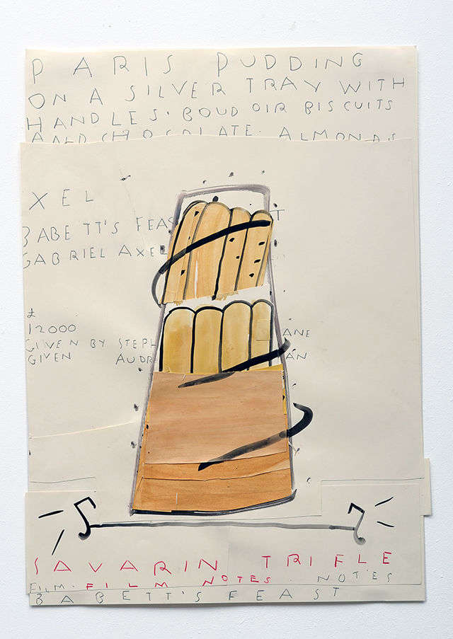 Savarin Trifle (Film Notes) 2010 Watercolour and Collage on Paper 84 x 59 cm Rose Wylie - Edit_LR.jpg