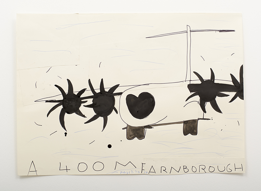 A 400M Farnborough (Blue Sky) 2014 Watercolour Ink Collage on Paper 62 x 89 cm Rose Wylie_LR.jpg