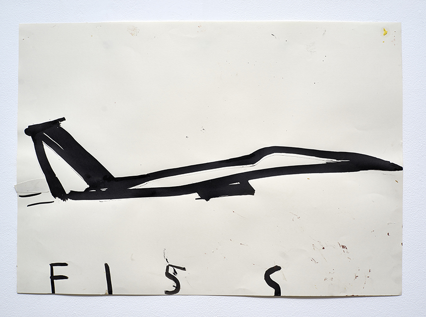 American Bomber F15S 2013 Ink and Collage on Paper 64 x 80 cmRose Wylie_LR.jpg