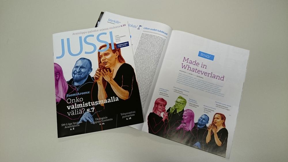 SuomalaisenTyonLiitto-Jussi_kansi_ja_aukeama.jpg