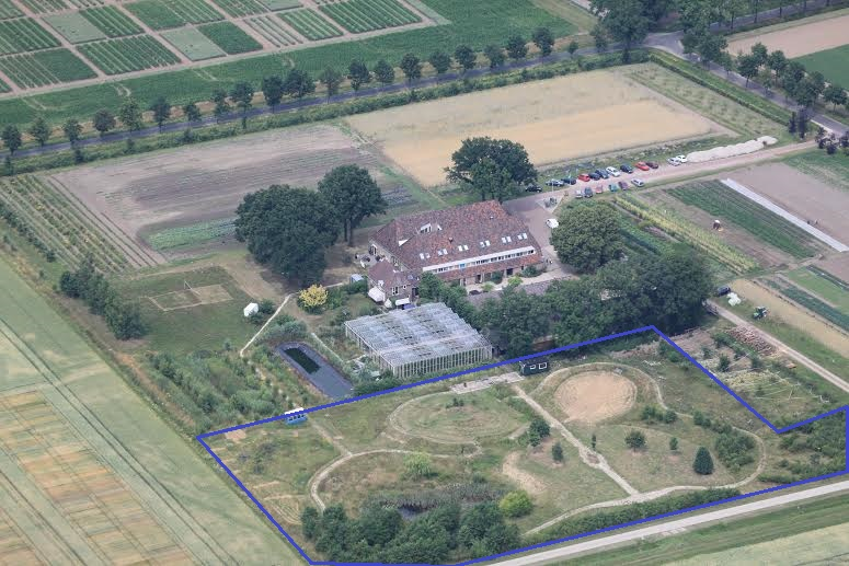 Creative Garden Wageningen from above 2014, so much has been developed since then!