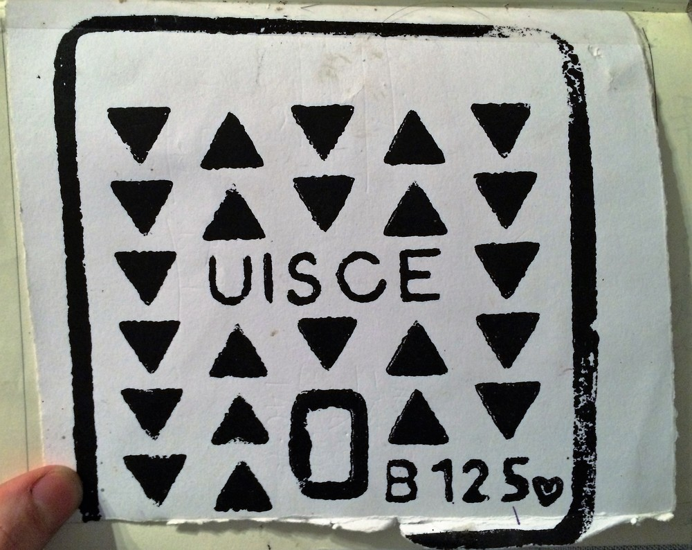 """Uisce"" i Found this tucked away in an old journal, signed and all."