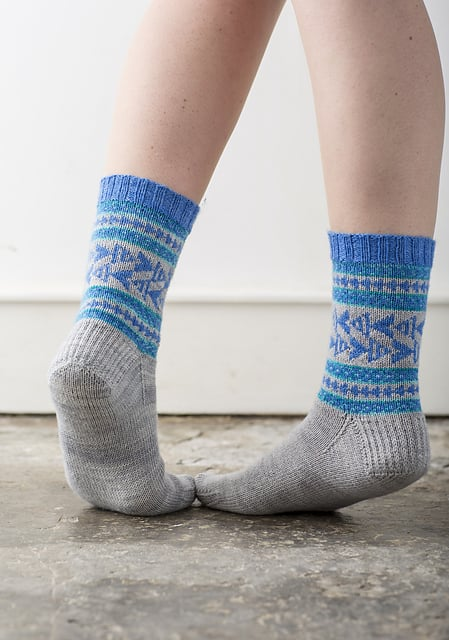Brighton Socks By Rachel Coopey from CoopKnits Socks Volume One