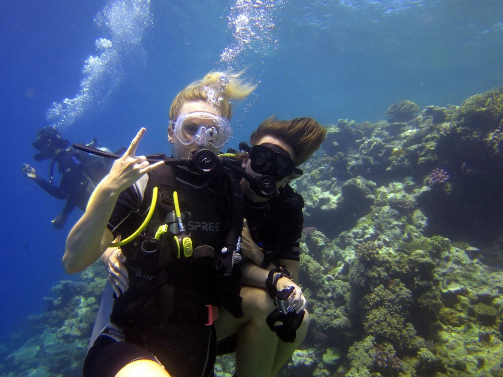 Oscar and I at the end of an awesome dive!
