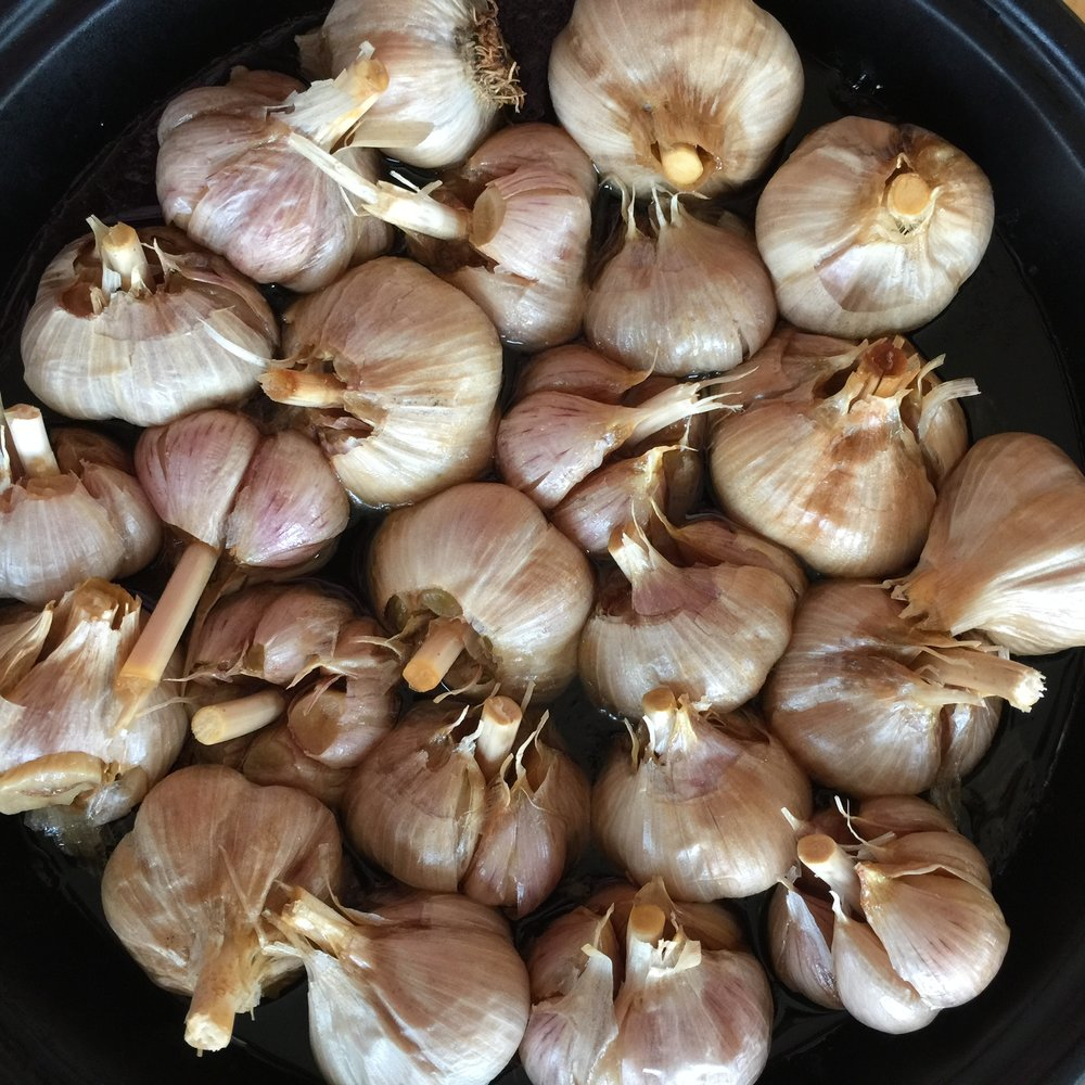 Our own roasted garlic