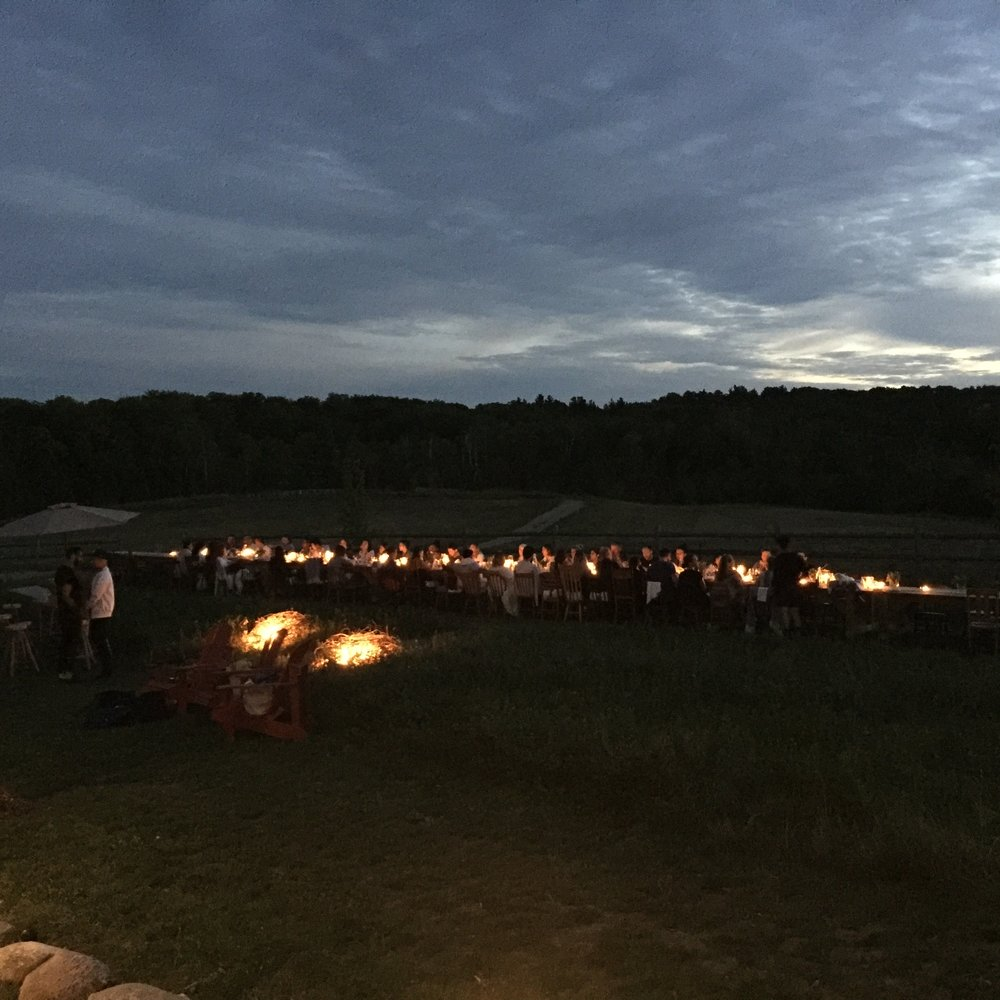 Dinner under the stars at South Pond Farms