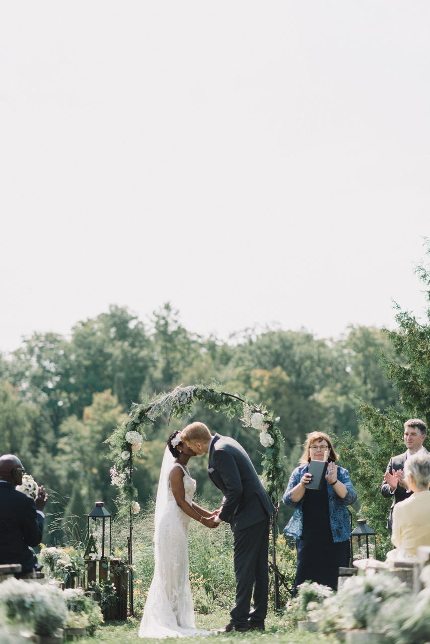 Ceremony at South Pond Farms. Photograph by Ryanne Hollies