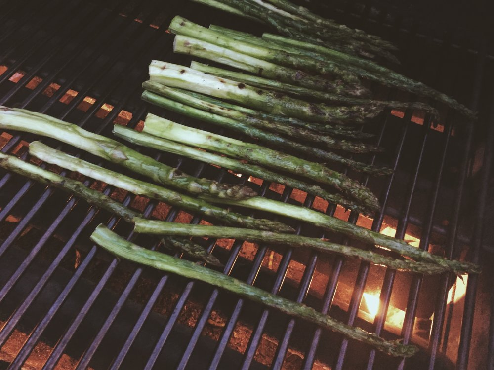 Perfectly charred asparagus