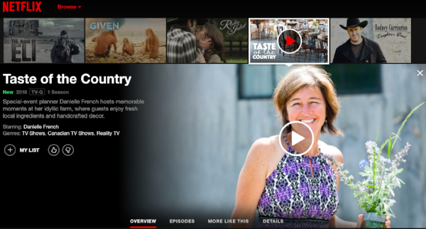 South Pond Farms on Netflix   A Taste of The Country featuring Danielle French and South Pond Farms is now featured on Netflix