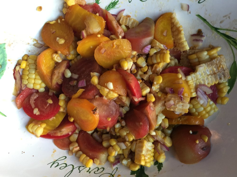 Beets and fresh corn