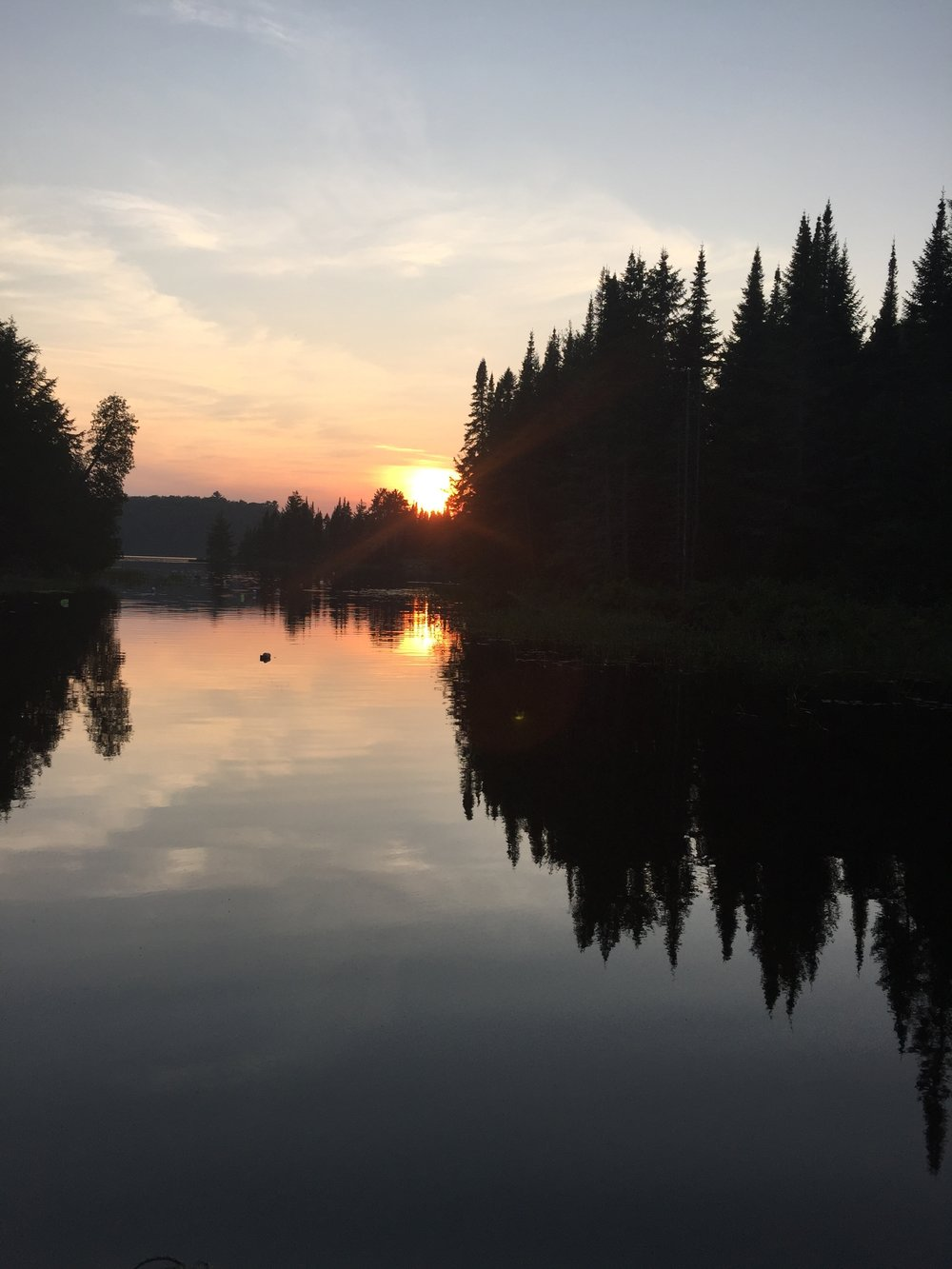Sunset in Algonquin.