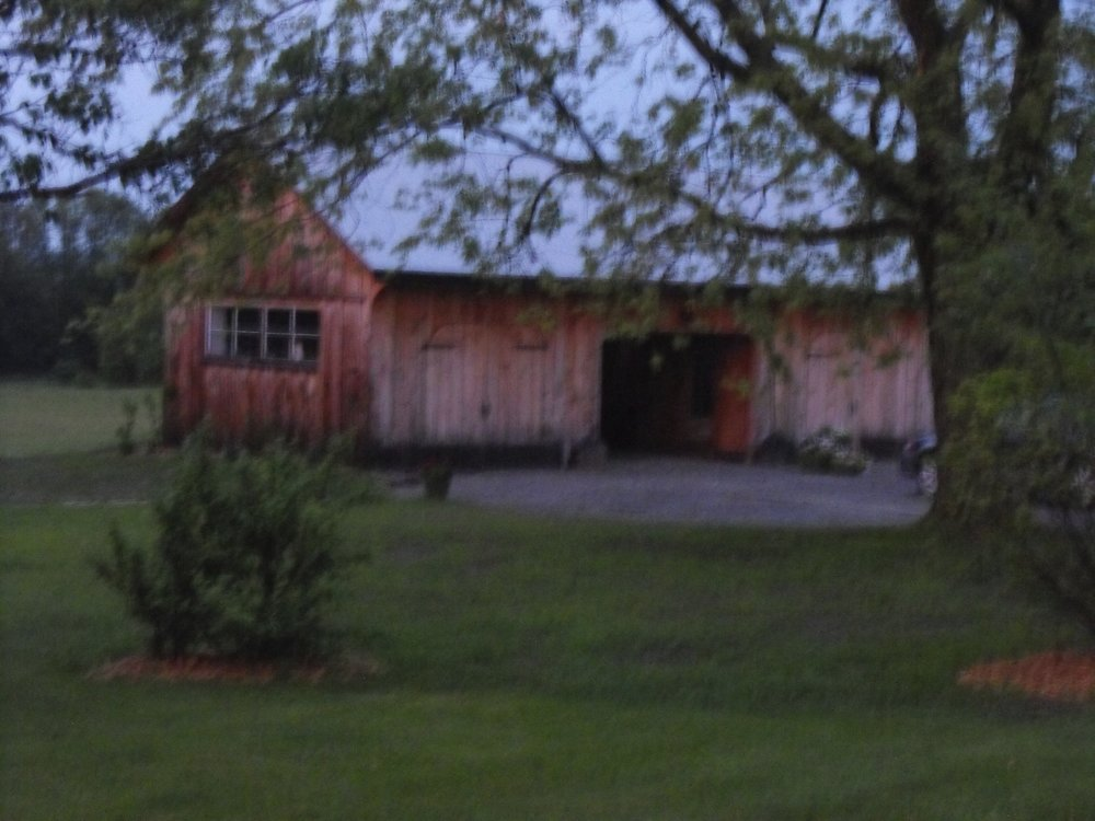 The newly renovated drive shed
