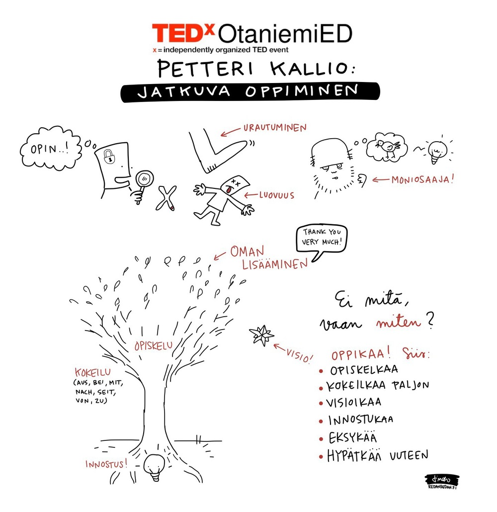 The talk is illustrated with Sketchnotes by Linda Saukko-Rauta at www.redanredan.fi.