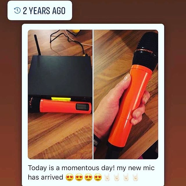 Custom orange @sennheiser #sennheiser #orange #microphone #paramore #paramoreorless #paramoretribute #paramoretributeband #paramoretributeshow #paramoreisaband #paramoreisstillaband #hayleywilliams #tayloryork #zacfarro