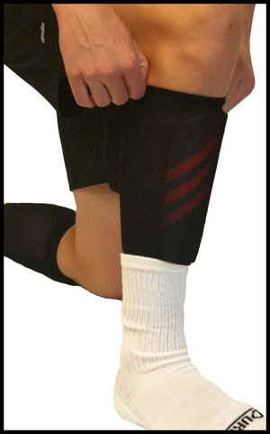 The Super Sleeve - The Ultimate Shin Guard Sleeve (2 Pair Pack ... afddc5ea75a4