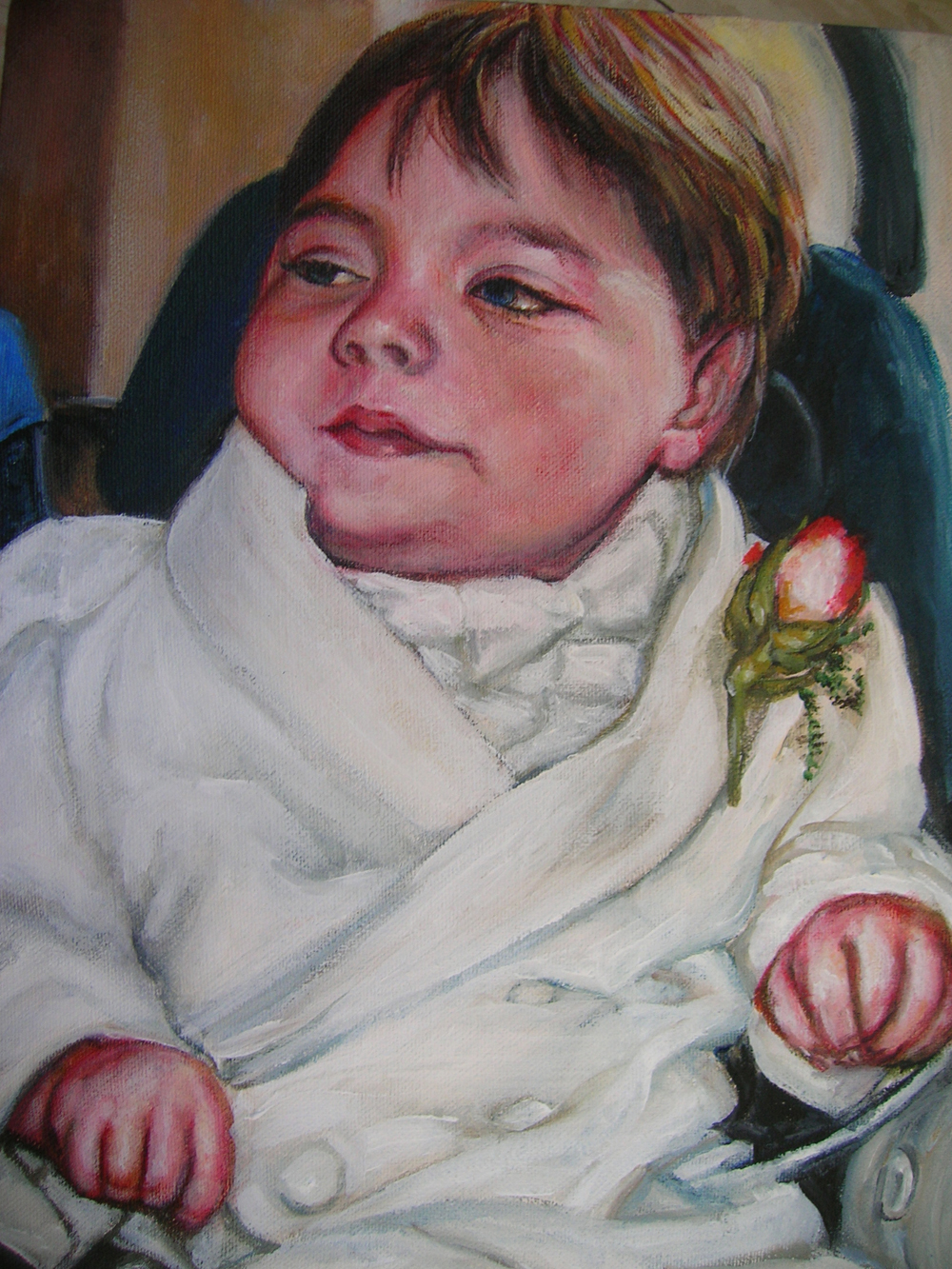 Portrait of Clay    Acrylic on Canvas      9 by 12 inches      ©Julie Schuler