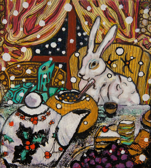 The Tortoise and the Hare have Tea in Snow