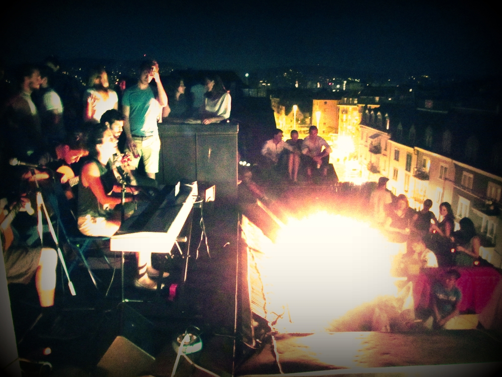 Rooftop party, Zurich