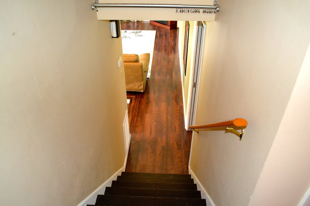 Stairs from Bedrooms to Living Room.JPG