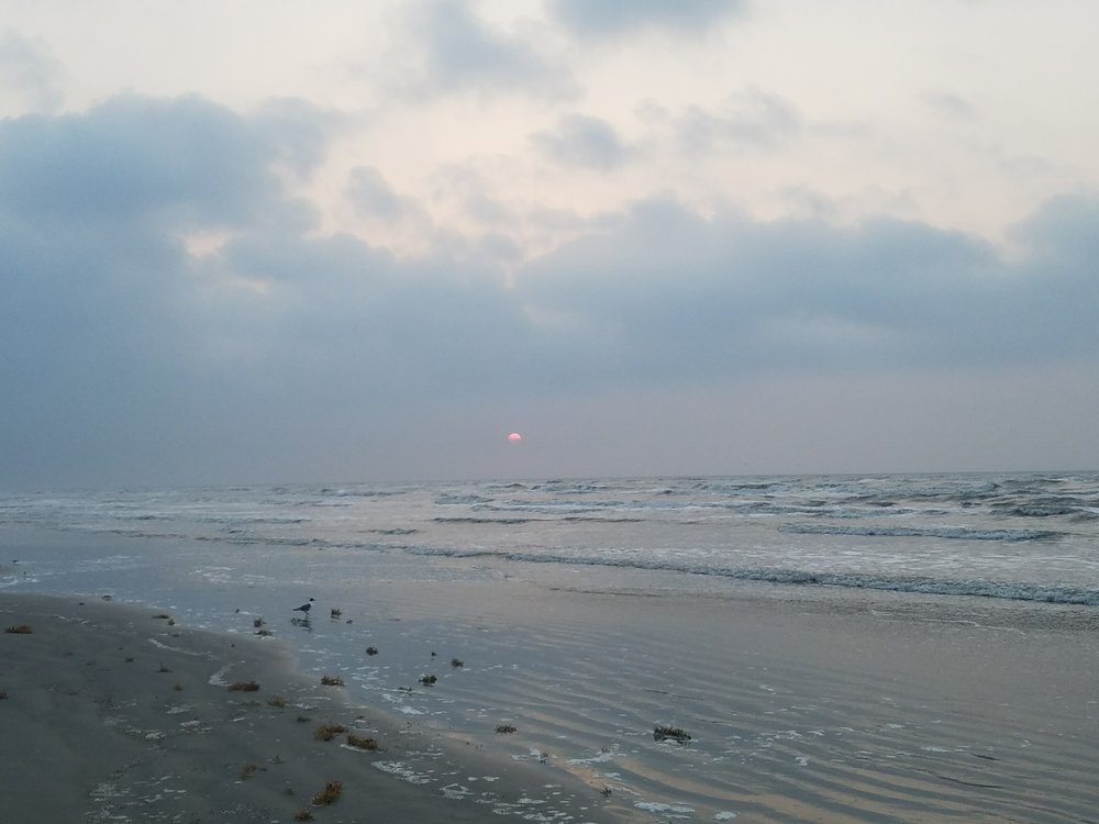 Sunrise beach run.