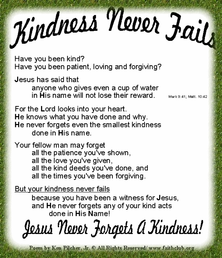 Poems about kindness for children 38