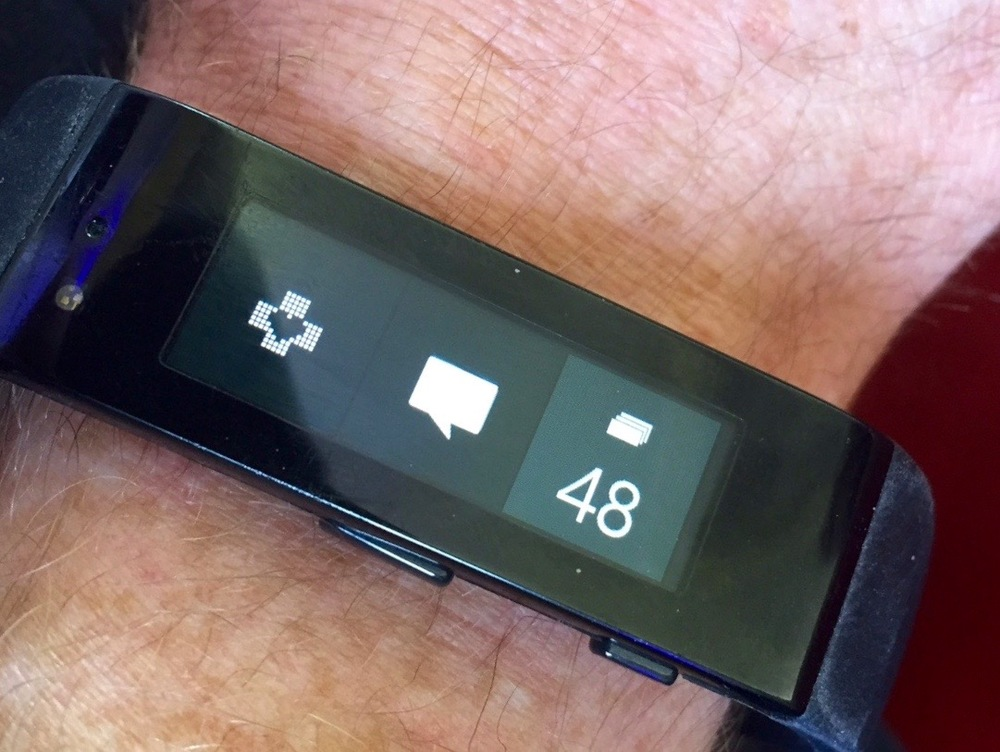 Microsoft Band enabling TickerFit to provide realtime heart rate feedback
