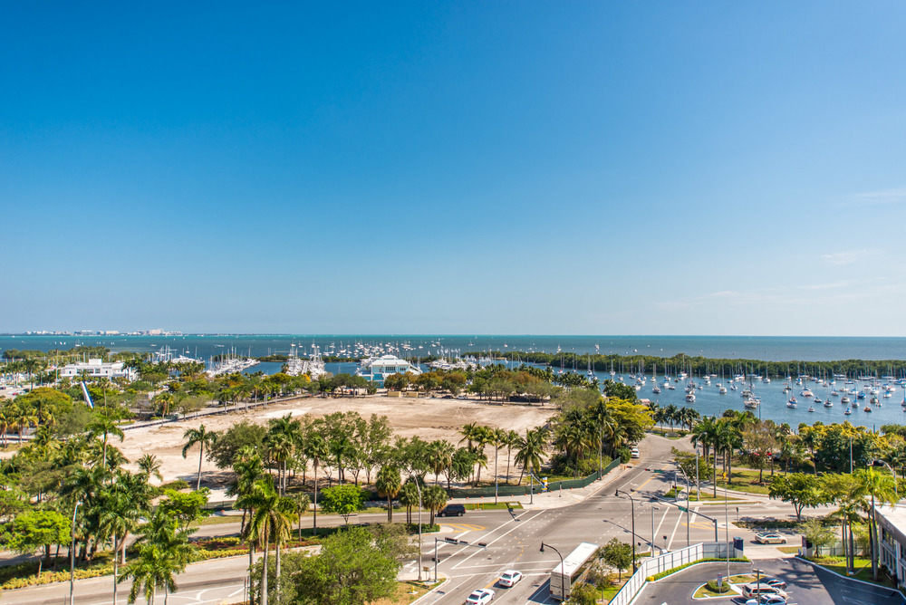 Panoramic view of Biscayne Bay from the balcony