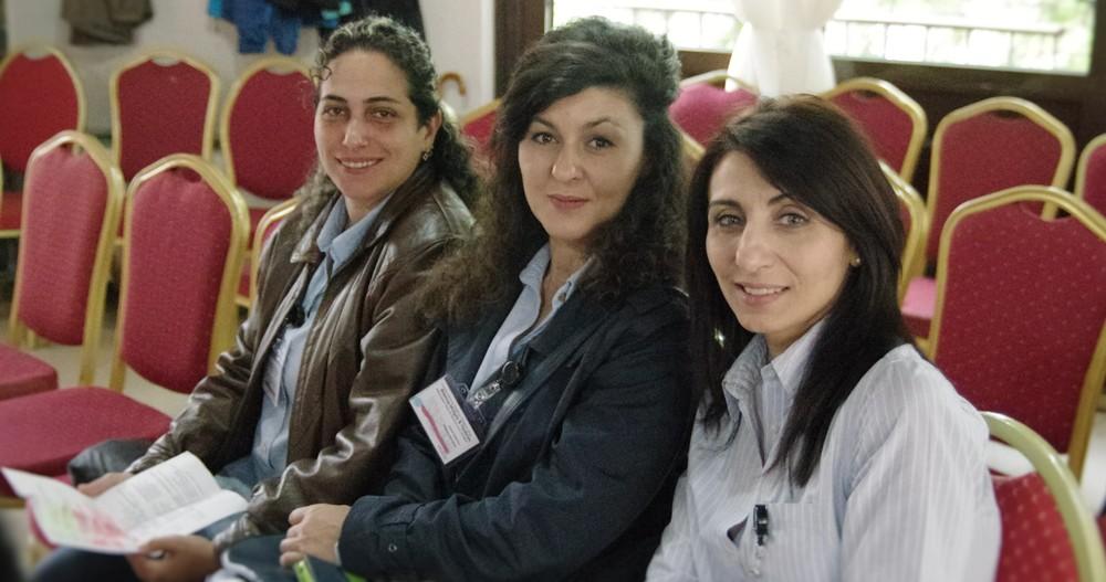 Die Betreuerinnen in der Pause