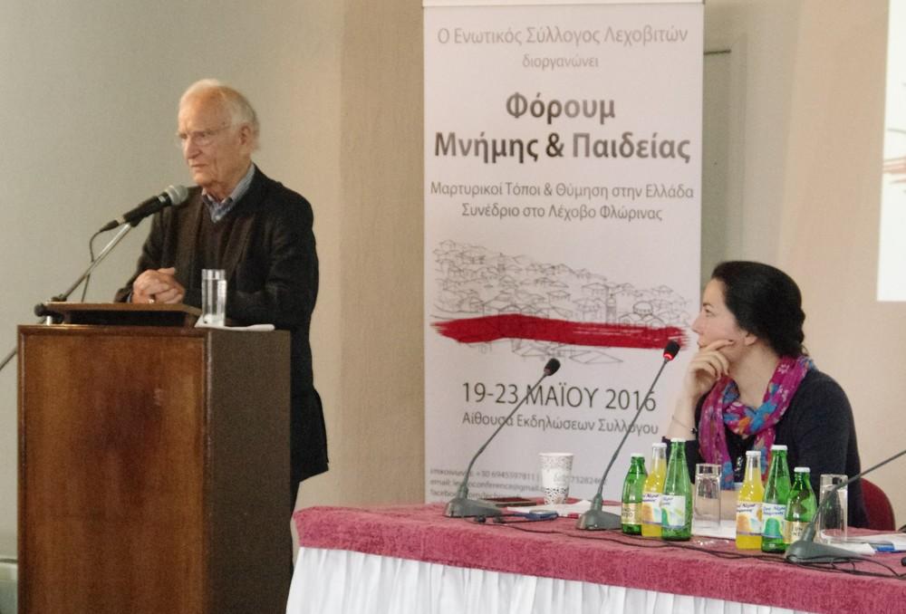 Ο Prof. Dr. Norman Paech και η Καρολίνα Ρέαμανν