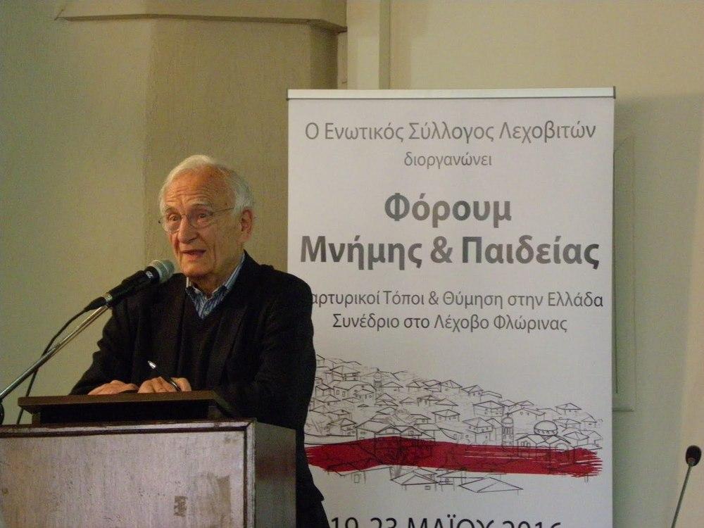 Ο Prof. Dr. Norman Paech απαντάει ερωτήσεις του κοινού
