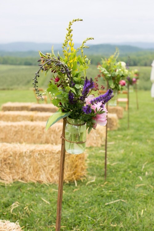 scenic multiple flower arrangements