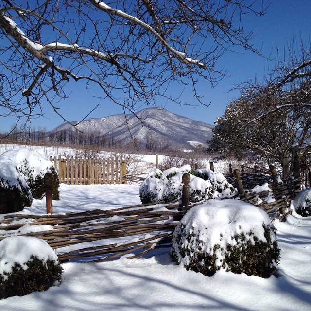 Our view today! #winter #vasnow #views #blueridge #venue #farmlife