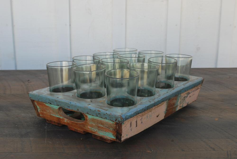Vintage Crate of Vases