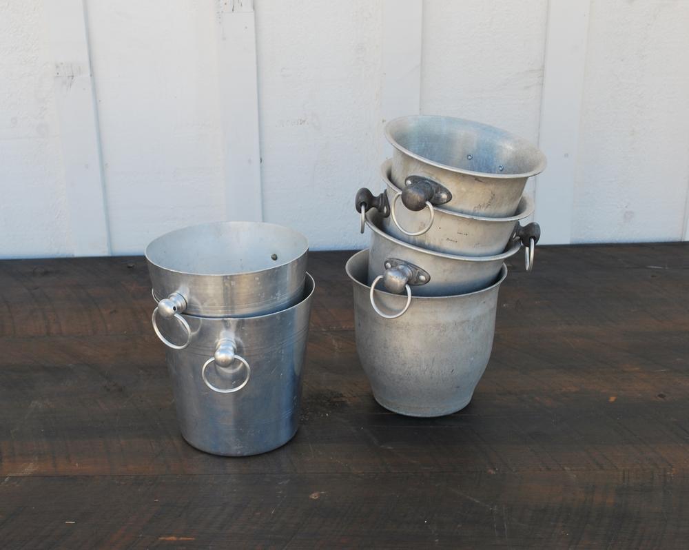 Galvanized Wine Buckets
