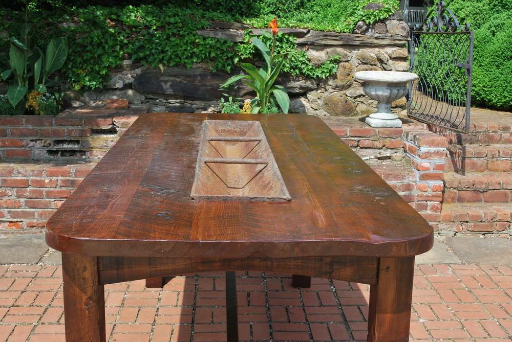 Solid Wood Trough Table