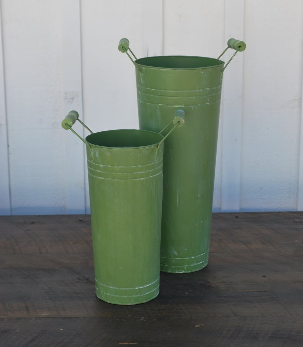 Large Weighted Metal Vases