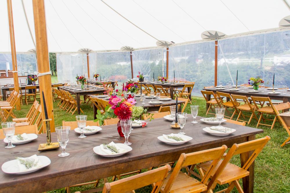 Aged-Pine Farm Table