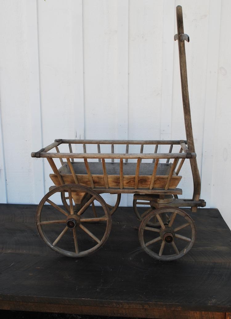 Antique Wooden Cart $10