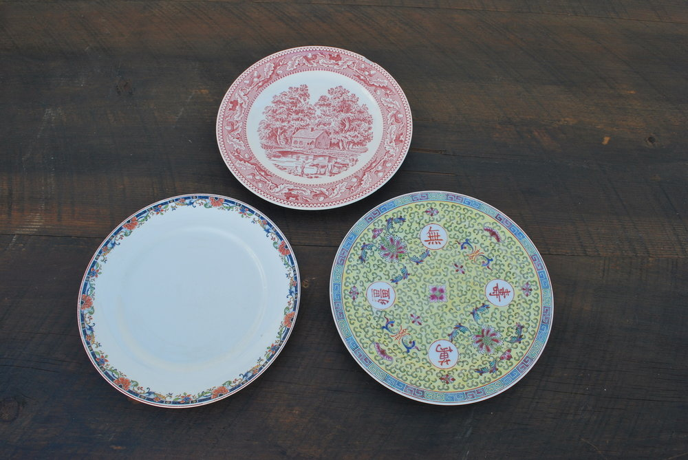 Assorted Vintage Dinner Plates $2 each, 275 available