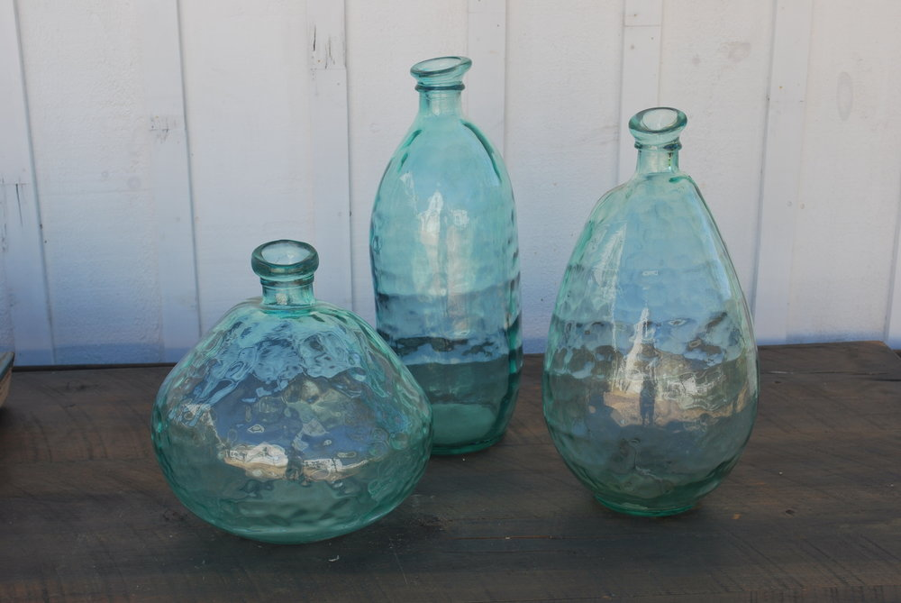 Large Hand Blown Vases $10 each, 3 available