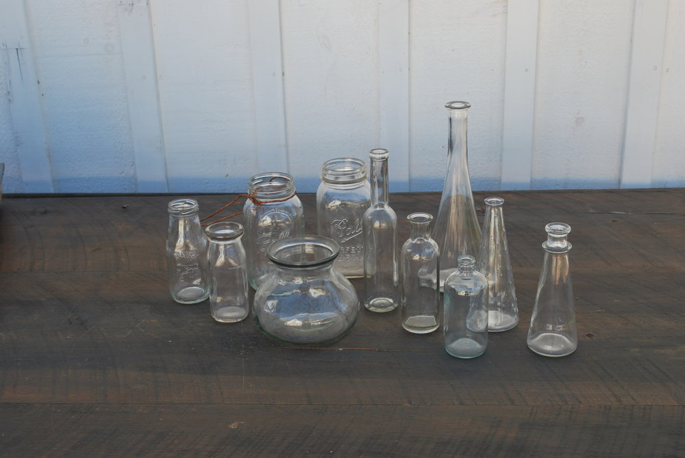 Assorted Glass Vases $2 - $5 each, Plenty Available