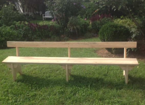 Backed Benches 8 foot, $20, 2 available