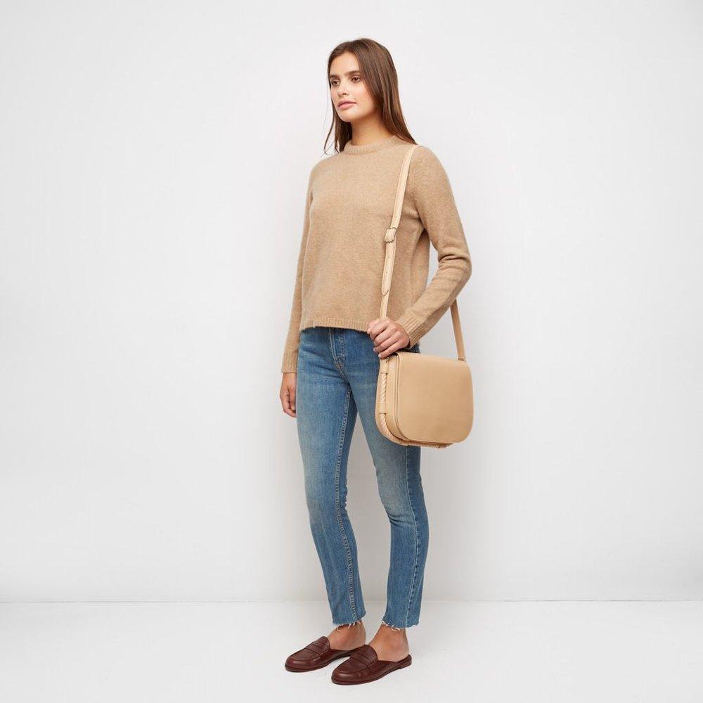 Jenni Kayne Merino Puffy Crewneck Sweater