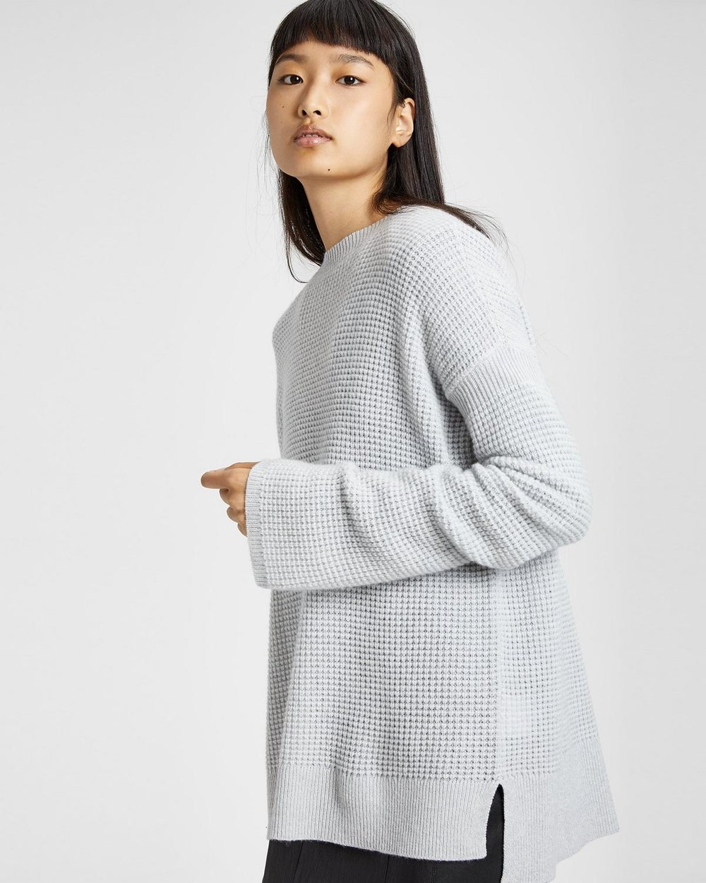 Theory Cashmere Bicep Cinched Pullover